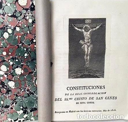 SAN GINÉS. MADRID : REAL CONGREGACIÓN DEL CRISTO DE SAN GINÉS DE ESTA CORTE. (1826) GRABADO (Libros Antiguos, Raros y Curiosos - Bellas artes, ocio y coleccionismo - Otros)