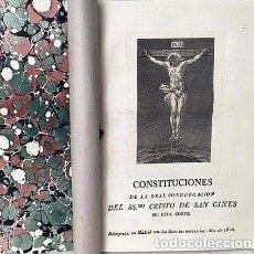 Libros antiguos: SAN GINÉS. MADRID : REAL CONGREGACIÓN DEL CRISTO DE SAN GINÉS DE ESTA CORTE. (1826) GRABADO. Lote 235670075