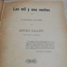 Libros antiguos: LAS MIL Y UNA NOCHES.. IMP. J. TOUS PALMA DE MALLORCA. Lote 235687630