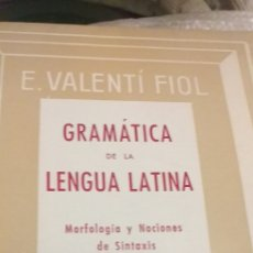 Libros antiguos: GRAMATICA DE LA LENGUA LATINA. Lote 235704785