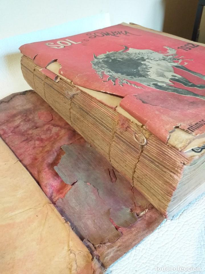 LIBRO ANUAL SOL Y SOMBRA ENERO-DICIEMBRE COMPLETO DE 1912 NUMEROS DEL 823 AL 878 ENCUADERNADOS (Libros Antiguos, Raros y Curiosos - Bellas artes, ocio y coleccionismo - Otros)