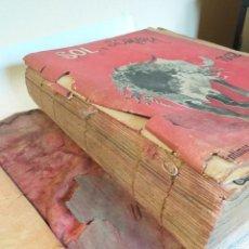 Livres anciens: LIBRO ANUAL SOL Y SOMBRA ENERO-DICIEMBRE COMPLETO DE 1912 NUMEROS DEL 823 AL 878 ENCUADERNADOS. Lote 235844005