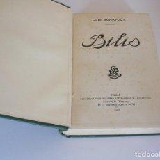 Libros antiguos: LUIS BONAFOUX. BILIS. PRIMERA EDICIÓN. Lote 235928140