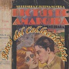 Libros antiguos: RICTUS DE AMARGURA 1921 VIDA DE UNA DESVENTURADA, PEDRO CORTADA RODO, IMPRESOS COSTA, 1935 DEDICADO. Lote 235930940