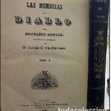 Libros antiguos: LAS MEMORIAS DEL DIABLO (EN DOS TOMOS). SOULIÉ, FEDERICO. A-NOVEN-067. Lote 235932175
