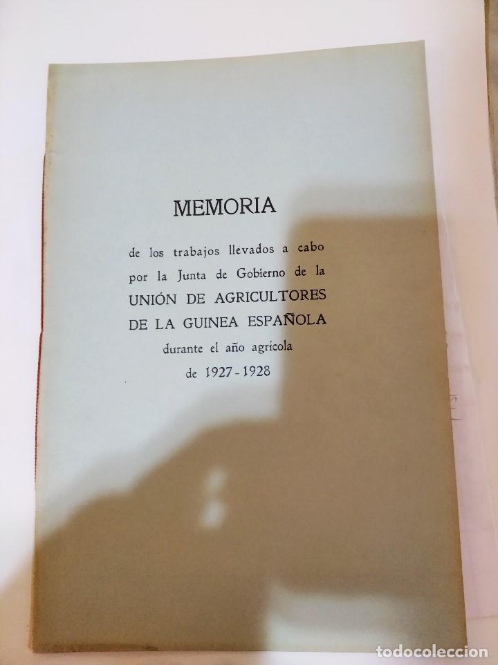 Libros antiguos: AÑO AGRÍCOLA 1927-1928. UNION DE AGRICULTORES. GUINEA ESPAÑOLA / FERNANDO POO - Foto 5 - 236220450