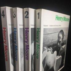 Libros antiguos: HENRY MOORE SCULPTURE AND DRAWINGS. 4 VOLUMENES. ILUSTRADOS, TEXTOS EN INGLÉS. 1921-1973. Lote 236310525