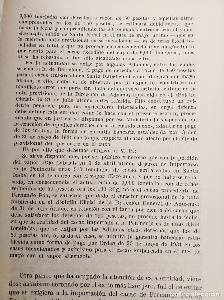 Libros antiguos: AÑO AGRÍCOLA 1931-1932. UNION DE AGRICULTORES. GUINEA ESPAÑOLA / FERNANDO POO - Foto 2 - 236342235