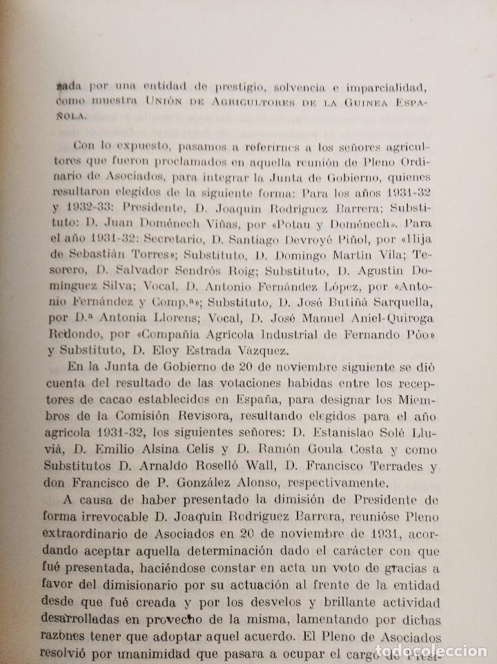 Libros antiguos: AÑO AGRÍCOLA 1931-1932. UNION DE AGRICULTORES. GUINEA ESPAÑOLA / FERNANDO POO - Foto 3 - 236342235