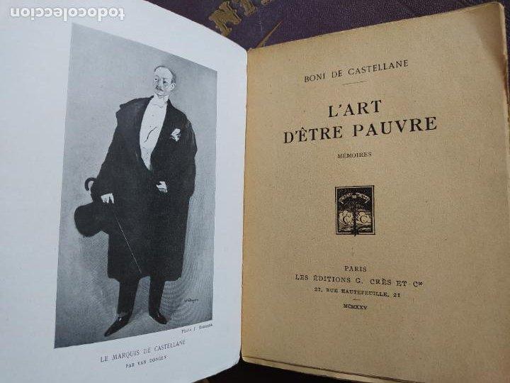 Libros antiguos: lart detre pauvre (mémoires) de de castellane boni, Editions Georges Crès Et Cie, 1925 RARE - Foto 8 - 236524195