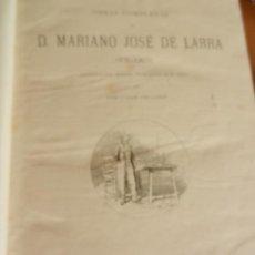 Libros antiguos: MARIANO JOSÉ DE LARRA (FÍGARO)-OBRAS COMPLETAS-GRABADOS L. PELLICER-MONTANER Y SIMON EDITORES 1886.. Lote 236543570