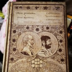 Libros antiguos: OBRA PÓSTUMA DE JUAN MONTALVO. ENSAYO DE IMITACIÓN DE UN LIBRO INIMITABLE.. Lote 236633055