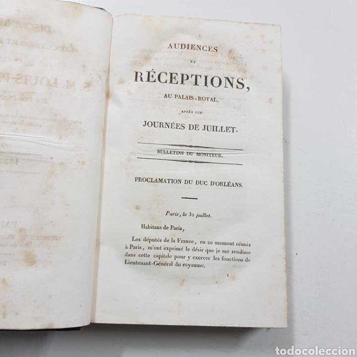Libros antiguos: DISCOURS ALLOCUTIONS ET REPONSES DE S. M. LOUIS PHILPPE ROI DES FRANCAIS 1830 MADAME VEUVE 1833 - Foto 2 - 236718185