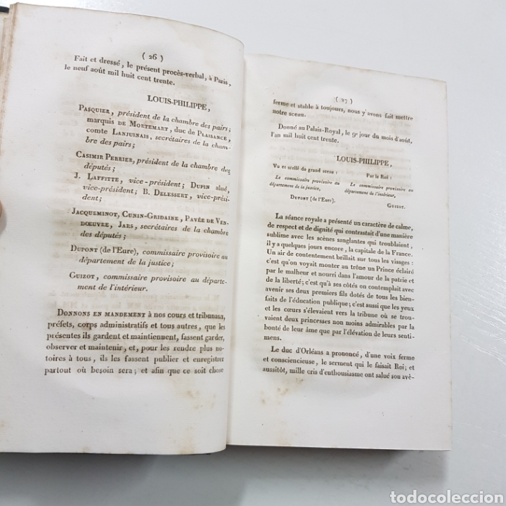 Libros antiguos: DISCOURS ALLOCUTIONS ET REPONSES DE S. M. LOUIS PHILPPE ROI DES FRANCAIS 1830 MADAME VEUVE 1833 - Foto 3 - 236718185