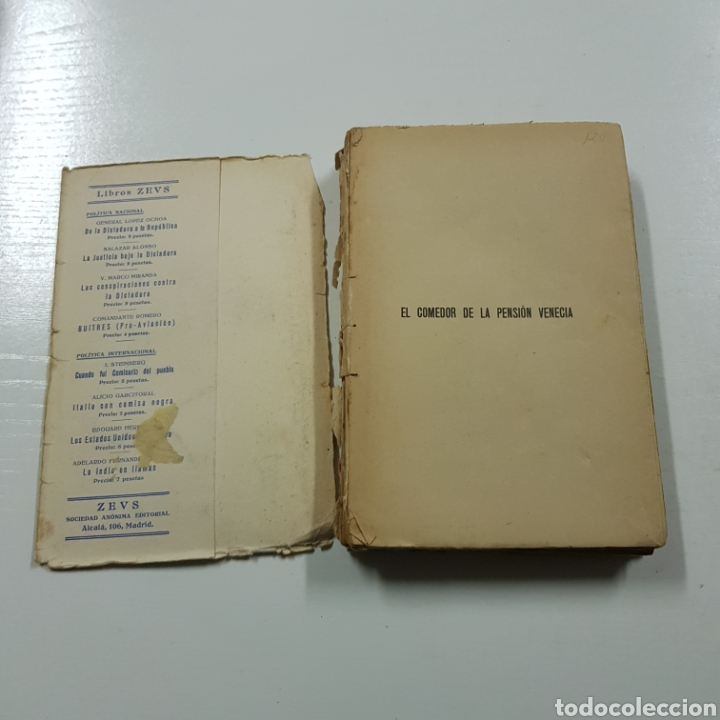 Libros antiguos: EL COMEDOR DE LA PENSION VENECIA - JOAQUIN ARDERIUS 1930 PRIMERA EDICIÓN - EDITORIAL ZEUS - Foto 2 - 236723250