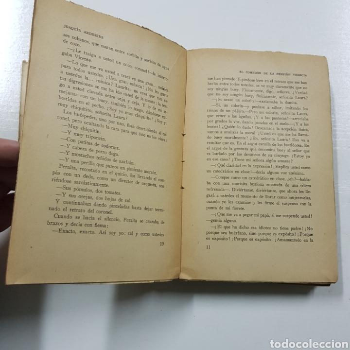 Libros antiguos: EL COMEDOR DE LA PENSION VENECIA - JOAQUIN ARDERIUS 1930 PRIMERA EDICIÓN - EDITORIAL ZEUS - Foto 4 - 236723250