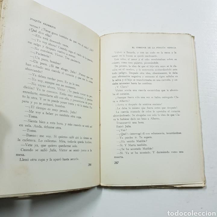 Libros antiguos: EL COMEDOR DE LA PENSION VENECIA - JOAQUIN ARDERIUS 1930 PRIMERA EDICIÓN - EDITORIAL ZEUS - Foto 6 - 236723250