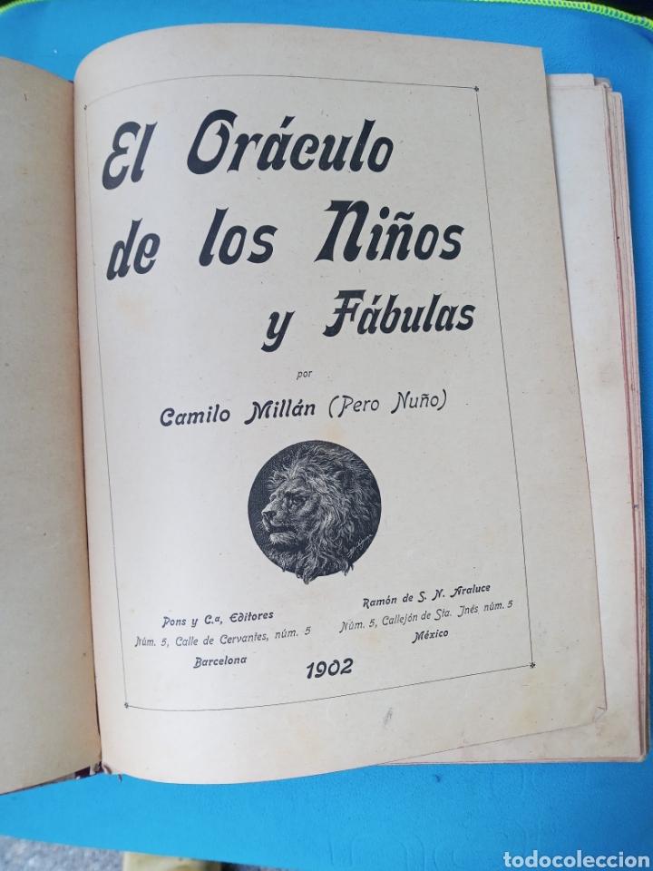 EL ORACULOS DE LOS NIÑOS Y FÁBULAS - 1902 (Libros Antiguos, Raros y Curiosos - Literatura Infantil y Juvenil - Otros)