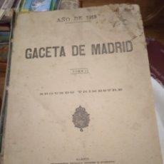 Libros antiguos: LA GACETA DE MADRID AÑO 1918 TOMO 2 SEGUNDO TRIMESTRE SEGÚN FOTOS. Lote 236844945