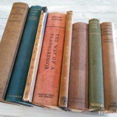 Libros antiguos: LOTE DE 8 LIBROS ANTIGUOS EN INGLÉS (1919-1937): POESIA, RELATOS, BARCOS, ENTRETENIMIENTO.... Lote 236949300