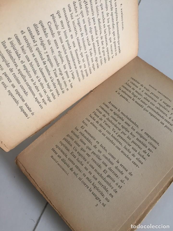 Libros antiguos: E. RAMIREZ-ANGEL. MADRID SENTIMENTAL. BIBLIOTECA ECONÓMICA SELECTA. PEREZ VILLACENCIO, EDITOR. 1907. - Foto 7 - 237264800