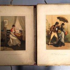 Livres anciens: HISTORIA DE UNA MUJER. ÁLBUM DE 50 CROMOS. EUSEBIO PLANAS. 1ª EDICIÓN 1880, SIN ENCUADERNAR.. Lote 237495880