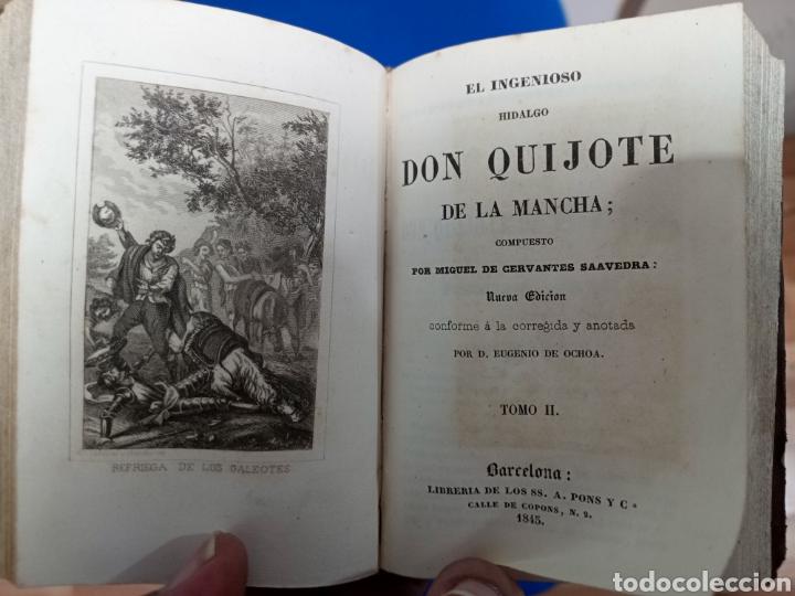 Libros antiguos: El Ingenioso Hidalgo Don Quijote de la Mancha - Foto 3 - 237575100