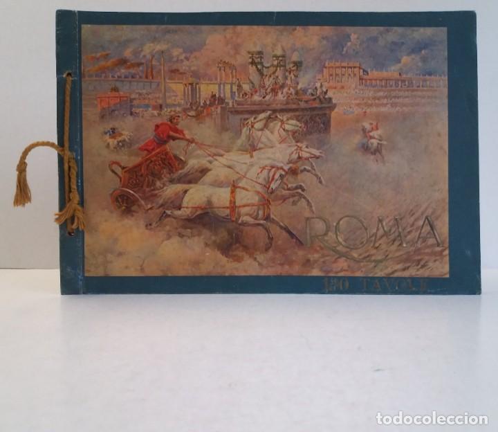 FABULOSO LIBRO DE FOTOLITOGRAFIAS ROMA 130 TAVOLE 100 AÑOS (Libros Antiguos, Raros y Curiosos - Bellas artes, ocio y coleccionismo - Otros)