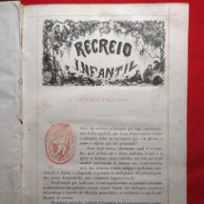 Libros antiguos: 1876. BIBLIOTECA DE EDUCAÇAO E RECREIO. COMPLETO. RARO.. Lote 238104215