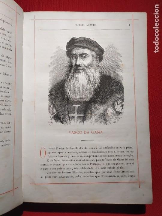 Libros antiguos: 1876. Biblioteca de Educaçao e Recreio. Completo. Raro. - Foto 4 - 238104215