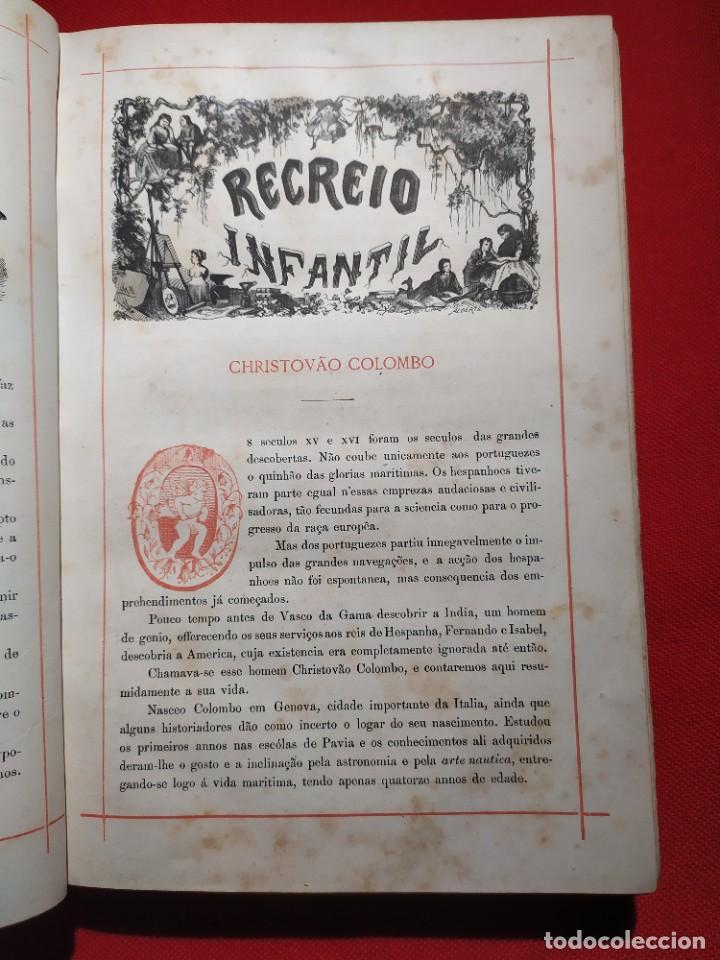 Libros antiguos: 1876. Biblioteca de Educaçao e Recreio. Completo. Raro. - Foto 7 - 238104215