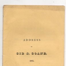 Livres anciens: ADDRESS TO SIR JOHN SOANE, ARCHITECT. LIST OF GOVERNORS AND DIRECTORS OF THE BANK OF ENGLAND 1835. Lote 238587230