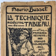 Libros antiguos: LA TECHNIQUE MODERNE DU TABLEAU ET LES PROCÉDÉS SECRETS DES GRANDS COLORISTES DES XVE, XVIE ET.... Lote 239365960
