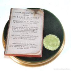 Libros antiguos: DE LOS VARONES ILUSTRES ROMANOS. SEXTO AURELIO VICTOR. DON AGUSTÍN MUÑOZ ÁLVAREZ. 1790.. Lote 239386560