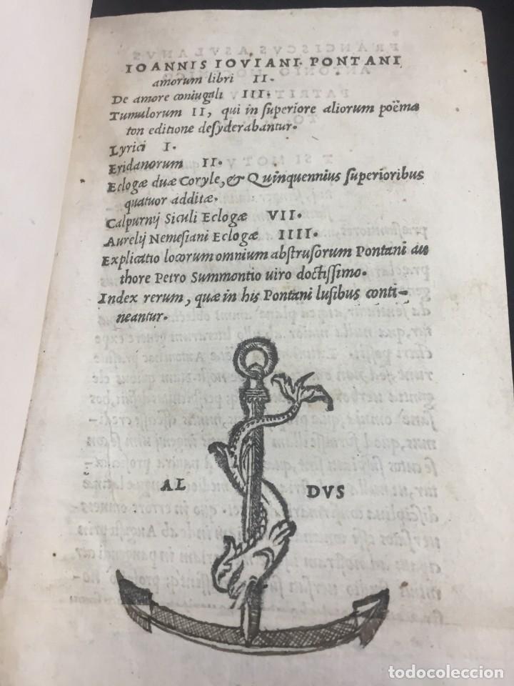 1518 IOANNIS IOVIANI PONTANI. AMORUM LIBRI DE AMORE CONIUGALI, TUMULORUM, EDICIÓN ORIGINAL LATÍN (Libros Antiguos, Raros y Curiosos - Literatura - Otros)