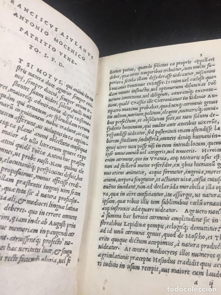 Libros antiguos: 1518 Ioannis Ioviani Pontani. Amorum libri De amore coniugali, Tumulorum, edición original Latín - Foto 5 - 239399620