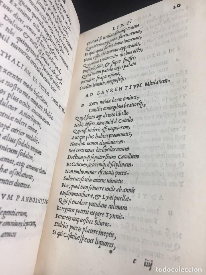 Libros antiguos: 1518 Ioannis Ioviani Pontani. Amorum libri De amore coniugali, Tumulorum, edición original Latín - Foto 12 - 239399620