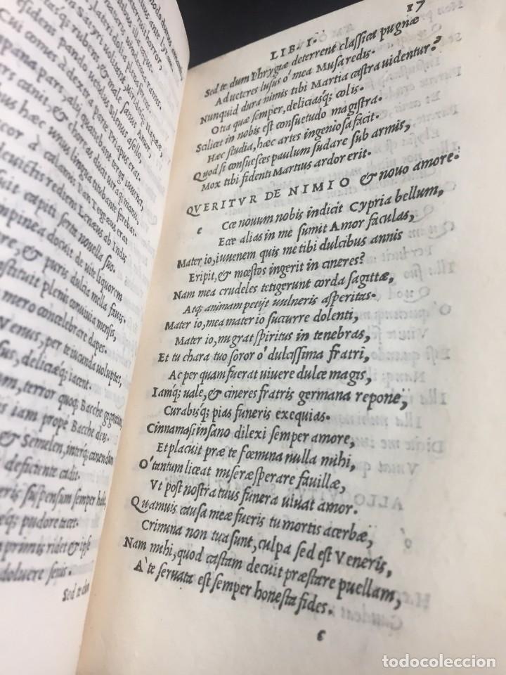 Libros antiguos: 1518 Ioannis Ioviani Pontani. Amorum libri De amore coniugali, Tumulorum, edición original Latín - Foto 13 - 239399620