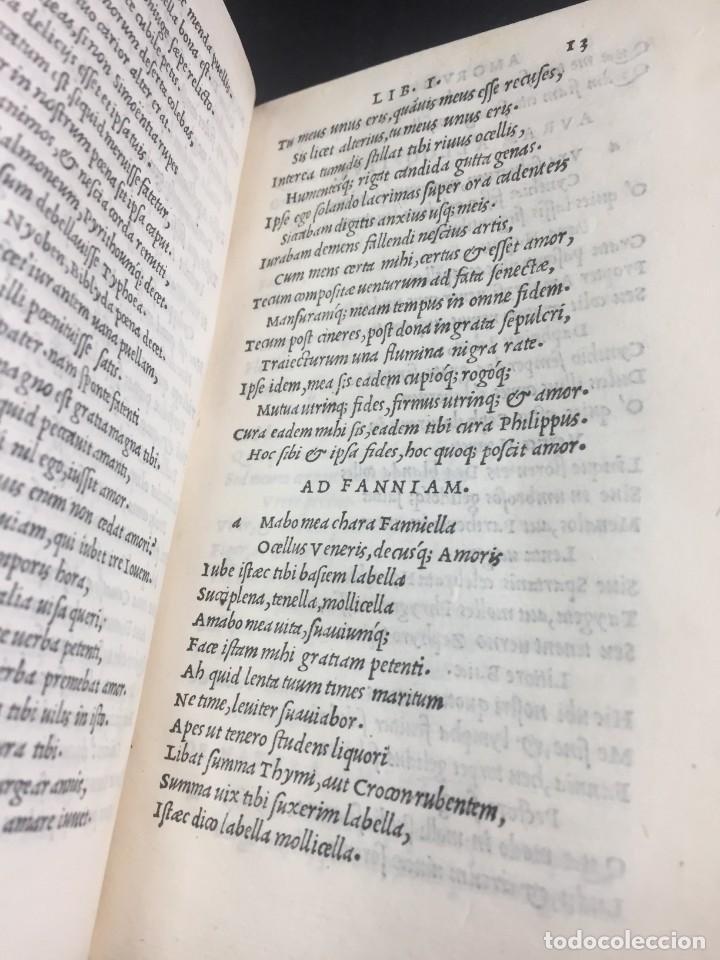 Libros antiguos: 1518 Ioannis Ioviani Pontani. Amorum libri De amore coniugali, Tumulorum, edición original Latín - Foto 14 - 239399620