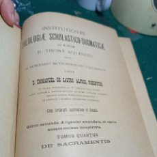 Libros antiguos: THEOLOGIAE SCHOLASTICO DOGMATICAE. TOMO 4 . 1897. Lote 239515470
