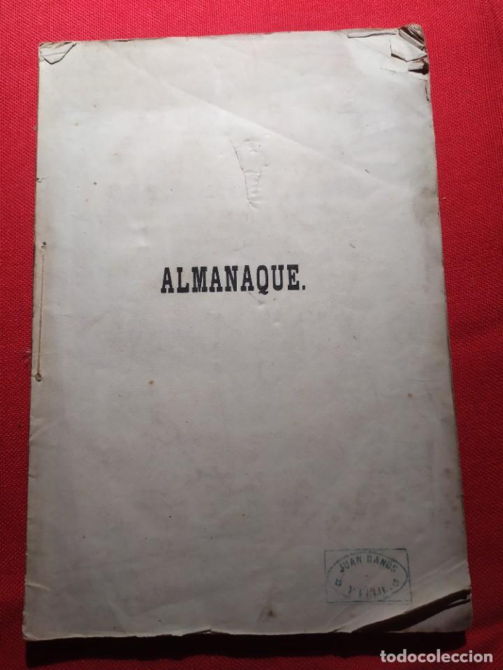 Libros antiguos: 1863. Almanaque literario del Ateneo Catalán para 1864. - Foto 2 - 239732785