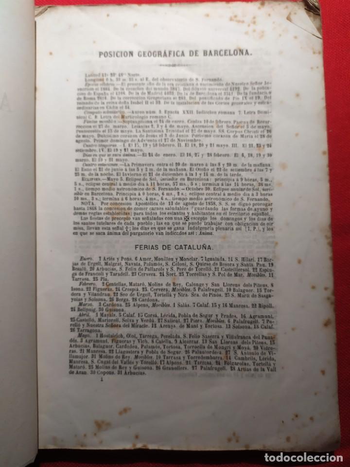 Libros antiguos: 1863. Almanaque literario del Ateneo Catalán para 1864. - Foto 4 - 239732785