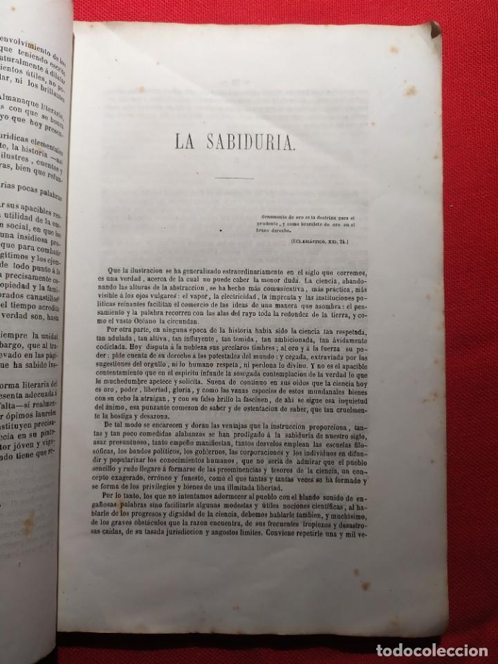 Libros antiguos: 1863. Almanaque literario del Ateneo Catalán para 1864. - Foto 7 - 239732785
