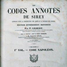 Libros antiguos: SIREY CODES NAPOLEON 1859 CODE CIVIL. Lote 240036480