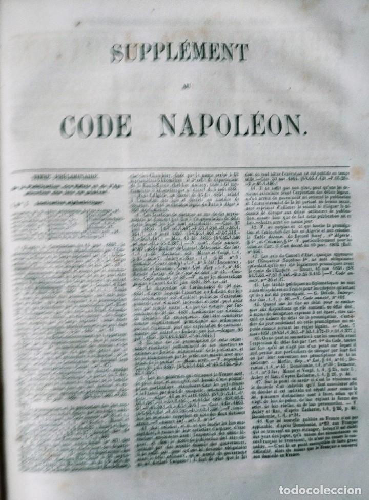 Libros antiguos: SIREY CODES NAPOLEON 1859 CODE CIVIL - Foto 4 - 240036480