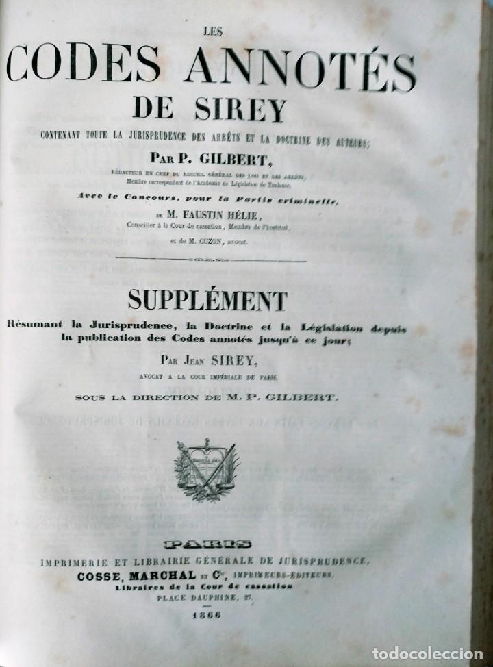 Libros antiguos: SIREY CODES NAPOLEON 1859 CODE CIVIL - Foto 5 - 240036480