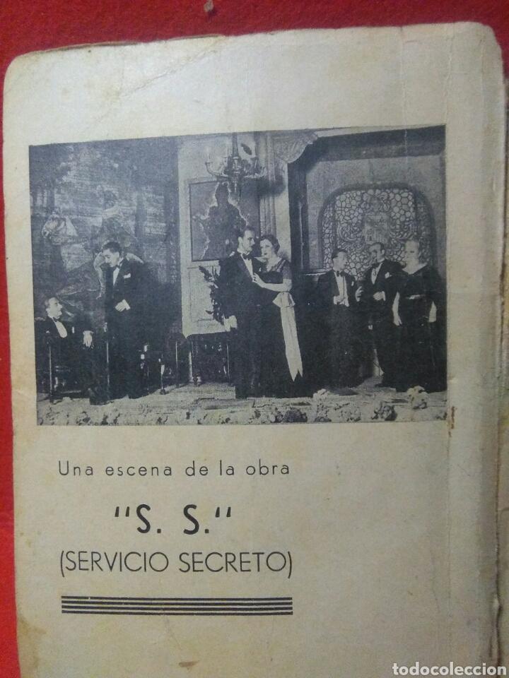 Libros antiguos: Libro comedia 1935 ,SS servicio secreto ,antonio estremera y rafael G,valdes - Foto 3 - 240084290