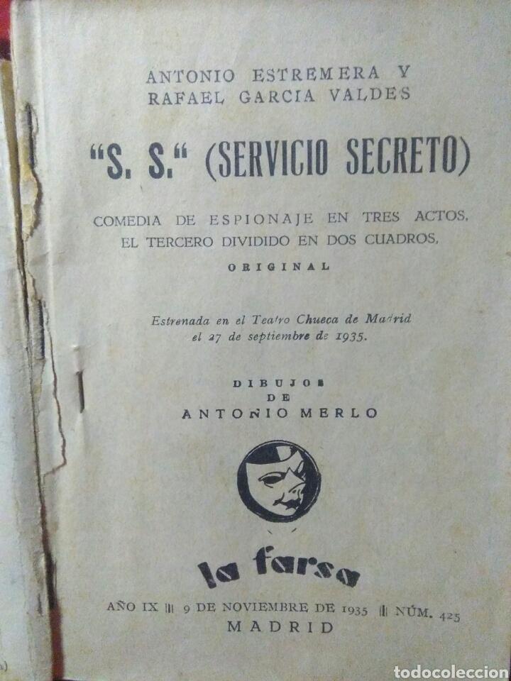 Libros antiguos: Libro comedia 1935 ,SS servicio secreto ,antonio estremera y rafael G,valdes - Foto 4 - 240084290
