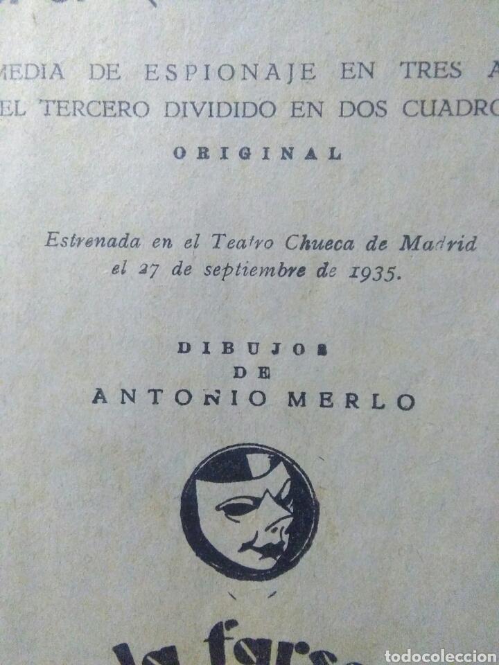 Libros antiguos: Libro comedia 1935 ,SS servicio secreto ,antonio estremera y rafael G,valdes - Foto 5 - 240084290