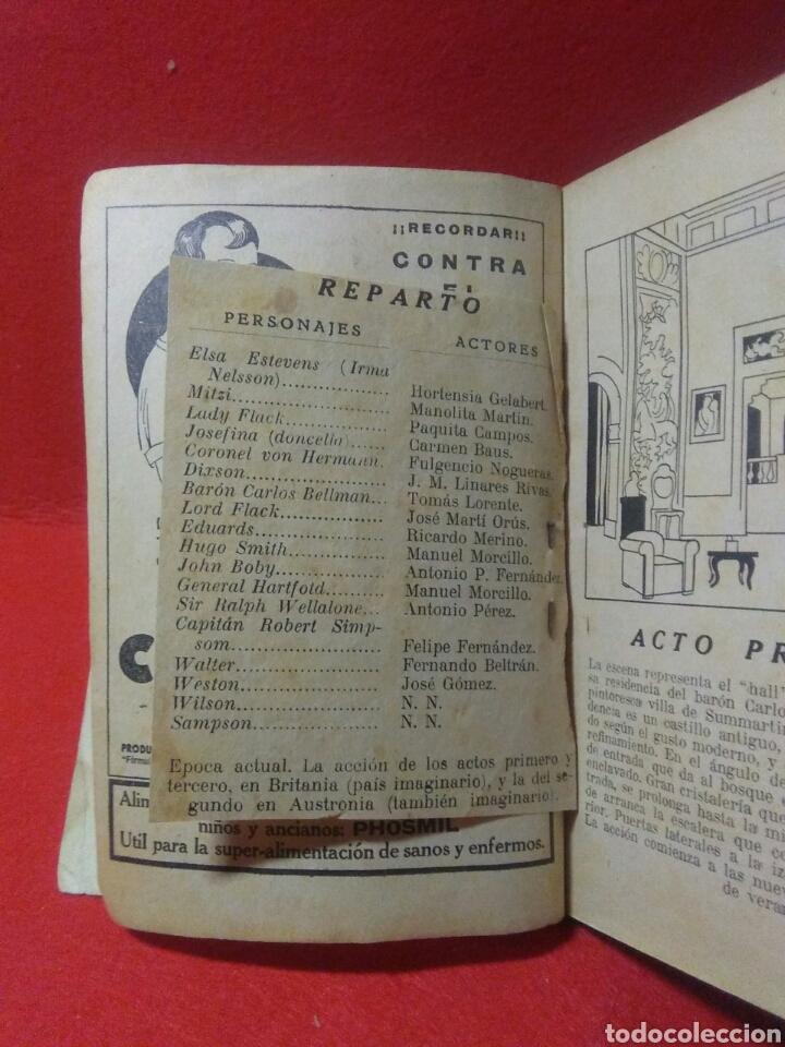 Libros antiguos: Libro comedia 1935 ,SS servicio secreto ,antonio estremera y rafael G,valdes - Foto 7 - 240084290